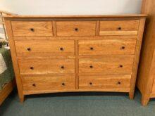 cherry nine drawer dresser