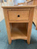 cherry one drawer nightstand